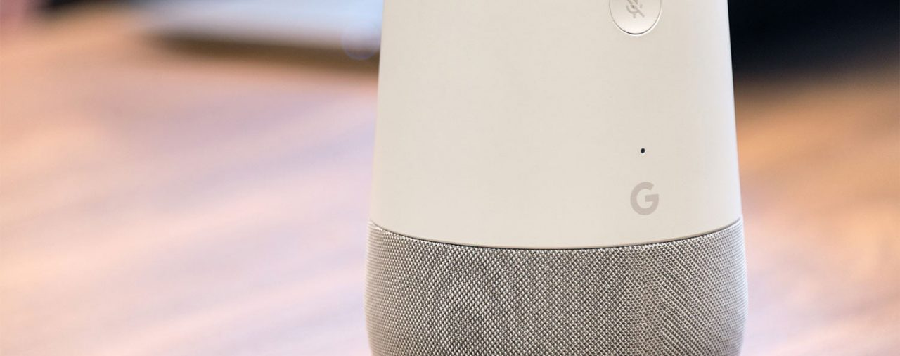 Google Home-speakers in stereo